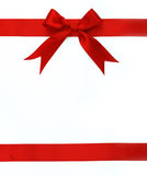 Red ribbon and bow Stock Image