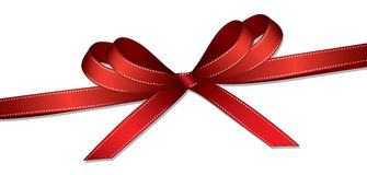 Red ribbon and bow background. Red ribbon and bow isolated on white background Stock Photography