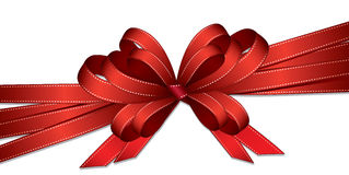 Red ribbon and bow background Stock Images