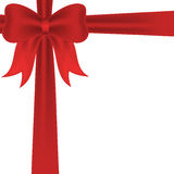 Red ribbon and bow background. Red ribbon and bow on white background Stock Photos