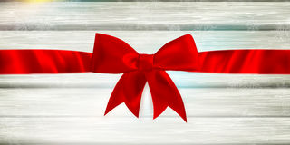 Red ribbon and bow. EPS 10 Stock Photos