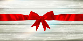 Red ribbon and bow. EPS 10 Stock Image