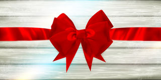 Red ribbon and bow. EPS 10 Stock Photography