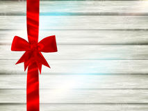 Red ribbon and bow. EPS 10 Royalty Free Stock Photos