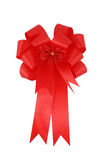 Red ribbon and bow isolated Royalty Free Stock Photo