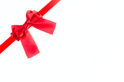 Red ribbon bow. Royalty Free Stock Images
