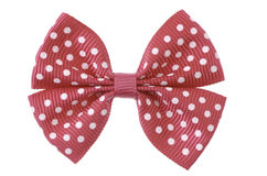Red ribbon bow. Stock Photos