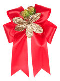 Red ribbon bow isolated Stock Photos