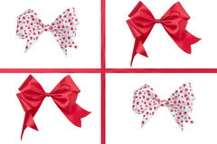 Red ribbon bow isolated on white background.  Stock Photography
