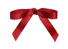 Red ribbon bow. Stock Image