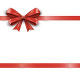 Red ribbon with bow isolated on white background. Vector Stock Photography