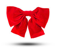 Red ribbon bow Object with clipping path Stock Image