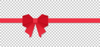 Red ribbon bow in origami style, vector illustration. Red ribbon bow in origami style, vector Royalty Free Stock Photo
