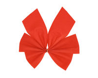 Red ribbon bow Stock Photos