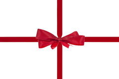 Red ribbon with bow Stock Photography