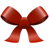 Red ribbon bow. Bow with ribbons colored red isolated on white background Royalty Free Stock Photo