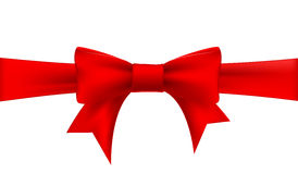 Red ribbon with a bow Royalty Free Stock Images