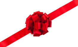Red ribbon with a bow Royalty Free Stock Photo