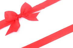 Red ribbon with bow Stock Image
