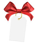 Red ribbon bow. On white background Royalty Free Stock Photo