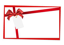 Red ribbon bow. On white background Stock Photography
