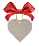 Red ribbon bow. On white background Royalty Free Stock Images