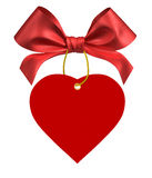 Red ribbon bow. On white background Stock Image