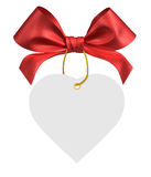 Red ribbon bow. On white background Royalty Free Stock Photography
