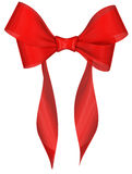 Red ribbon bow on white background Stock Image