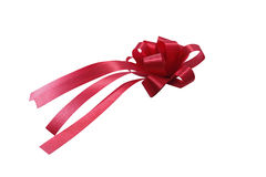 Red ribbon and bow Stock Images