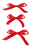 Red Ribbon Bows Royalty Free Stock Images
