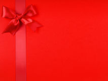A red ribbon bows Royalty Free Stock Photos