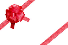 Red ribbon for christmas. Red ribbon for gift box on christmas's day Royalty Free Stock Images