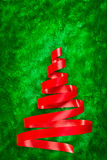 Red ribbon Christmas tree Royalty Free Stock Photos
