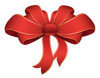 Red Ribbon - Christmas Vector Illustration Stock Images