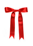 Red ribbon (with clipping path) Royalty Free Stock Image