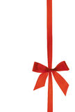 Red ribbon with clipping path. Vertical size Royalty Free Stock Image
