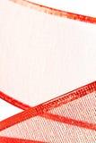 Red ribbon closeup Royalty Free Stock Photography