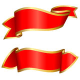 Red ribbon collection Royalty Free Stock Photos