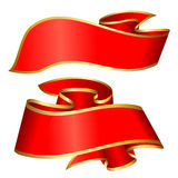 Red ribbon collection Royalty Free Stock Images