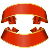 Red ribbon collection Royalty Free Stock Image