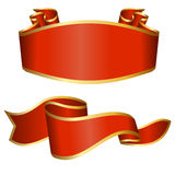 Red ribbon collection Royalty Free Stock Photography