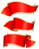 Red ribbon collection Royalty Free Stock Photo