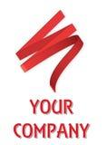 Red ribbon company logo royalty free stock photography
