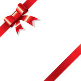 Red ribbon on corner Royalty Free Stock Image