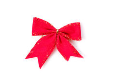 Red ribbon decoration Stock Photos