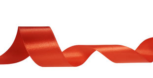 Red ribbon decoration christmas Stock Images