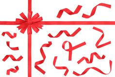Red Ribbon design elements Stock Photography
