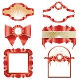 Red Ribbon Designs Royalty Free Stock Image