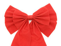 Red ribbon detail on white Stock Photos